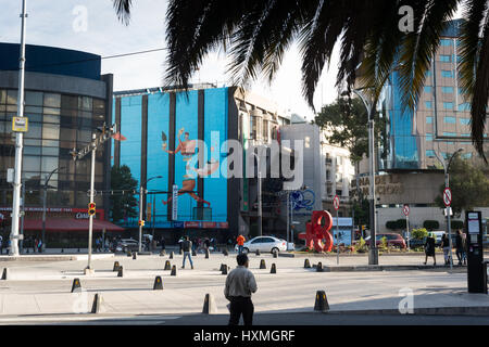 Street view, Mexico City. December 2016. - Stock Image