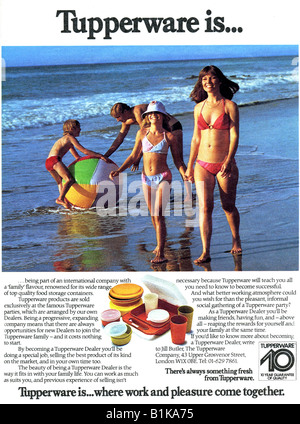 1980 advertisement for Tupperware FOR EDITORIAL USE ONLY - Stock Image
