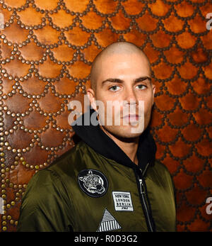 Manchester, UK. 3rd November, 2018. Max George performs at the Manchester Lights Switch on. Credit: Della Batchelor/Alamy Live News - Stock Image