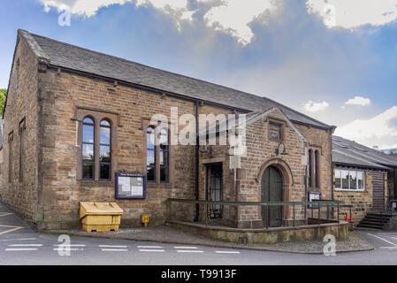 Dent village, Cumbria.Primary school. National School building dated 1845. - Stock Image