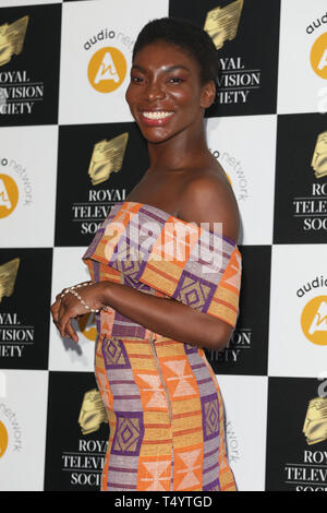 The Royal Television Society Awards (RTS Awards) 2019 held at Grosvenor House Hotel - Arrivals  Featuring: Michaela Coel Where: London, United Kingdom When: 19 Mar 2019 Credit: Lia Toby/WENN.com - Stock Image