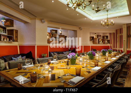 'Salon of The Zetter Hotel in London, England' - Stock Image