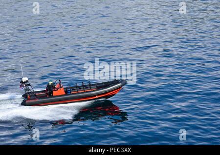 Pilot boat, Lofoten Archipelago, Norway 180703_73813 - Stock Image