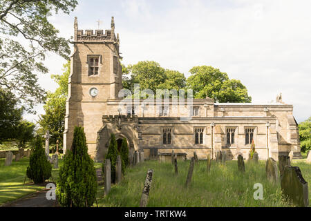 All Saints Church, in Slingsby, North Yorkshire, England, UK - Stock Image