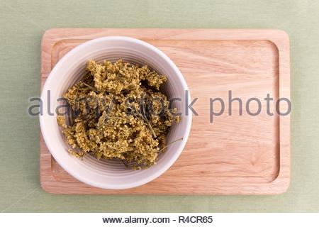 Dried elderflowers - copy space provided - Stock Image