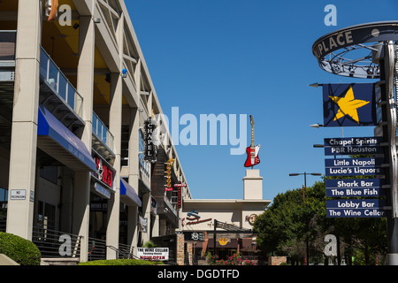 Shops and Hard rock cafe at Bayou Place Houston Texas USA - Stock Image