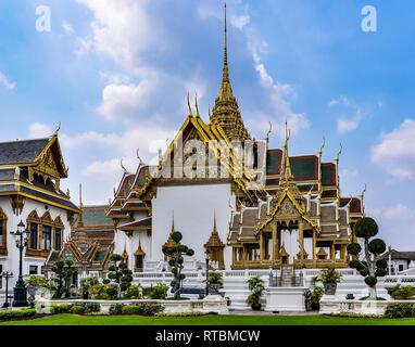 Phra Maha Montien in the Grand Palace in Bangkok, Thailand - Stock Image