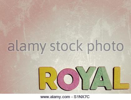 royal (word) - Stock Image