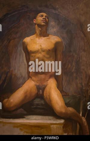 Nude Study of Thomas E. McKeller, John Singer Sargent, circa 1917-1920, Museum of Fine Arts, Boston, Mass, USA, North America - Stock Image