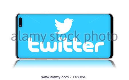 Twitter logo - Stock Image