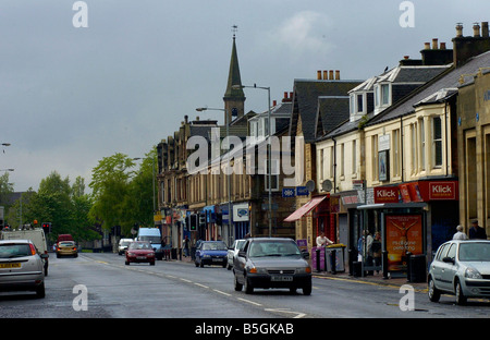 General View of the town of Bellshill in South Lanarkshire Scotland - Stock Image