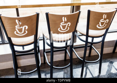 Orlando Florida East Colonial Drive Little Saigon Asian Paris Banh Mi Cafe Bakery barstools chairs custom - Stock Image