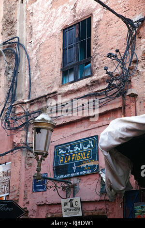 Marrakesch, Mauer, Medina, Marokko - Stock Image
