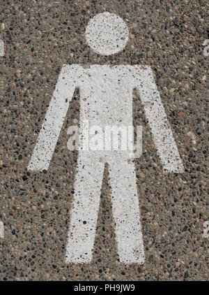 Pedestrian Walkway Marked on Pavement Pathway - Stock Image