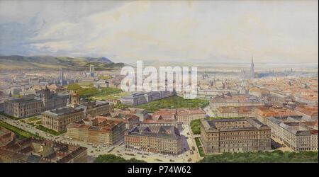 39 Pendl – Bird's-Eye View of Vienna from Getreidemarkt, 1904 - Stock Image