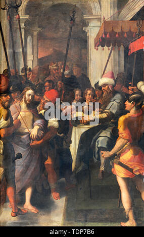 COMO, ITALY - MAY 10, 2015: The painting of Arrest of Jesus in Gethsemane garden in church Chiesa di San Agostino probably by Francesco Mazzucchelli. - Stock Image