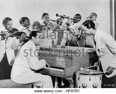 Duke Ellington and band circa 1930 in New York City. Editorial Use Only. - Stock Image