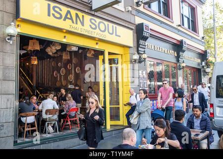 Thai street food restaurant in Melbourne city centre,Victoria,Australia - Stock Image