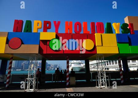 Happy Holidays ! Hong Kong, SAR - Stock Image