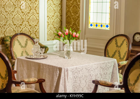 Titanic- Reconstruction of a first class cabin - Stock Image