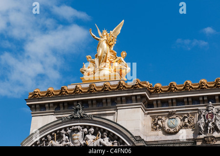 The Opera Garnier in Paris France - Stock Image