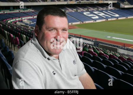 Scotland U19 Rugby coach Peter Wright at Murrayfield stadium in Edinburgh - Stock Image