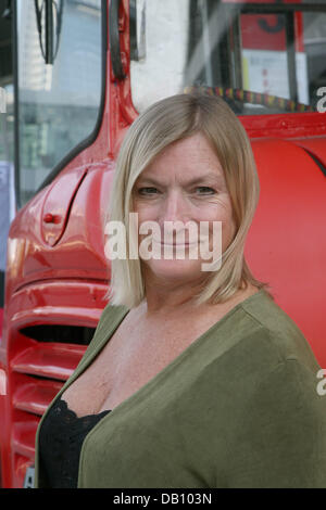 New Yorker author Kate Klimo poses at the Frankfurt Book Fair in Frankfurt Main, Germany, 11 October 2007. Photo: - Stock Image