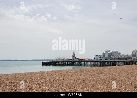 South parade pier in Southsea a typical old British seaside pier - Stock Image