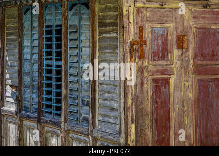 old wooden hut - Stock Image