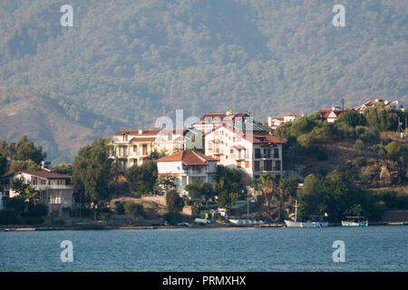 Large homes on Megri Island - Fethiye Adasi in Fethiye, Turkey - Stock Image