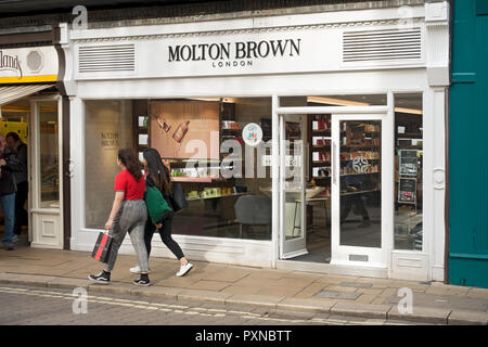 Molton Brown shop store Davygate York North Yorkshire England UK United Kingdom GB Great Britain - Stock Image