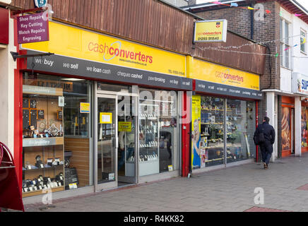 Cash converters shop front in Crawley, Sussex - Stock Image