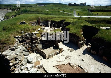 Skara Brae Archaeological dig site Orkney Scotland - Stock Image