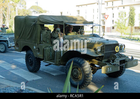 A Dodge WC-51 during the 74th Anniversary of Operation Dragoon, the Allied invasion of the French Riviera (15 - 26 August 1944) - Stock Image