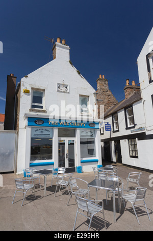 The Wee Chippy in Anstruther in the East Neuk of Fife - Stock Image