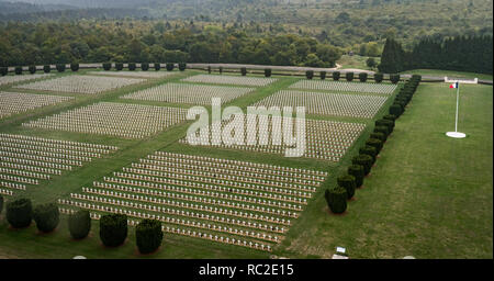 Douamont, France - September 2018: A section of the World War One war graves at Douamont, France - Stock Image