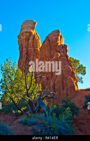 USA, Utah, Grand Staircase-Escalante, Hole in the rock Road, Devil's Garden Hoodoos - Stock Image