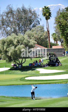 Rancho Mirage, California, USA. 2nd Apr, 2017. Sung Hyun Park on the 6th hole during the final round of the ANA - Stock Image