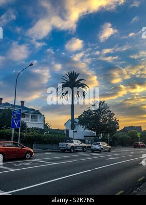 Sunset, Auckland - Stock Image