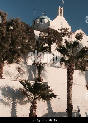 Greek church in Parikia Greece - Stock Image