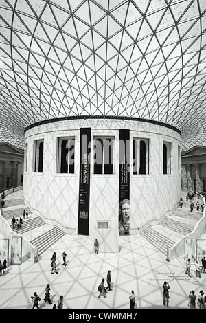 The Great Court in the British Museum, London - Stock Image