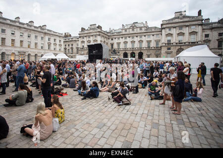 London, UK 15th July 2015. Aquilo, Summer Series, Somerset House. Credit:  Robert Stainforth/Alamy Live News Live - Stock Image