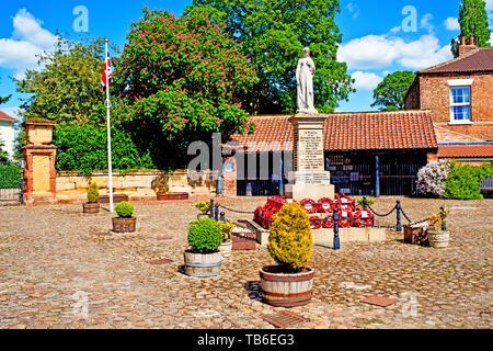 Hall Square, Boroughbridge, North Yorkshire, England - Stock Image