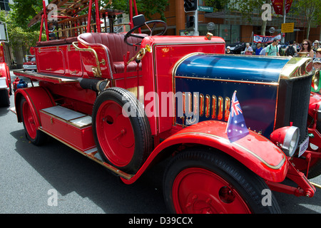 1935 Dennis fire engine in Macquarie Street Sydney Australia - Stock Image