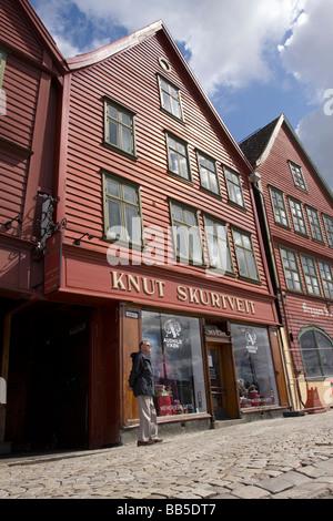 Bryggen, Bergen, Norway - Stock Image