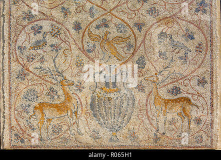 6384. Beth Govrin mosaic floor, late Roman - Stock Image