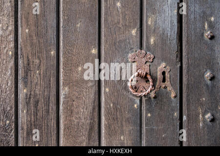Background texture of a medieval door. - Stock Image