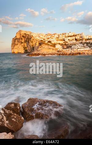 Coastal village of Peschici, Promontorio del Gargano, Puglia, Italy - Stock Image