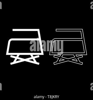 Prohibited Ironing is not allowed with steam Clothes care symbols Washing concept Laundry sign icon outline set white color vector illustration flat - Stock Image
