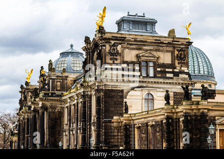 Stormy Panorama of Dresden, Germany - Stock Image